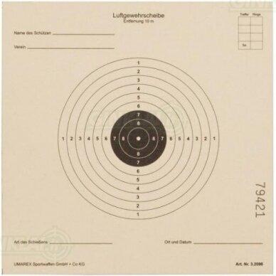Taikiniai pneumatiniam šautuvui ISSF 14x14 cm, 100 vnt.