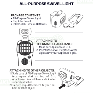 Thermacell žibintuvėlis Swivel Light 10