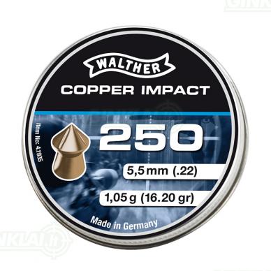 Kulkelės Walther Copper Impact  5,5 mm, 250 vnt.