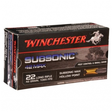 Winchester 22LR Subsonic 2,72 g, 50vnt.